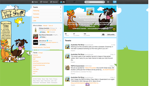 Australian Pet Shop Twitter Background