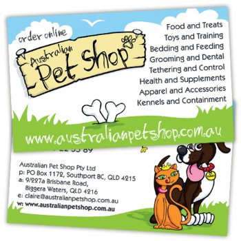 Australian Pet Shop Business Cards